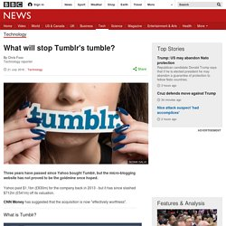 What will stop Tumblr's tumble?