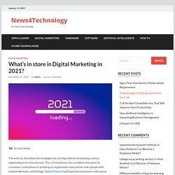 What's in store in Digital Marketing in 2021?