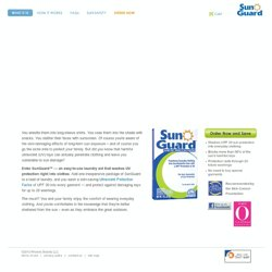 What It Is - SunGuard Wash-In Sun Protection