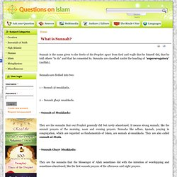 What is Sunnah? | Questions on Islam
