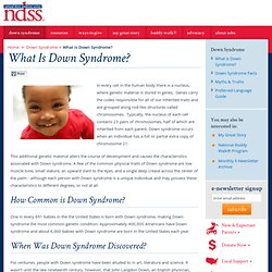 What Is Down Syndrome? - National Down Syndrome Society