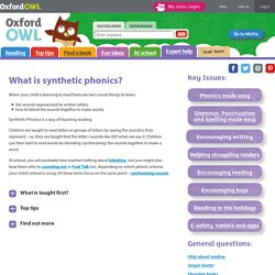What is synthetic phonics?