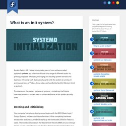 What is an init system? - Fedora Magazine