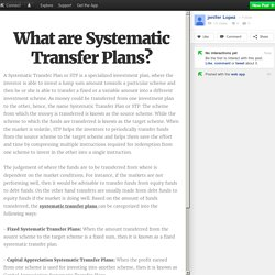 What are Systematic Transfer Plans?
