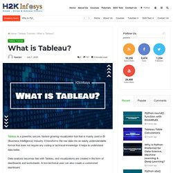 What is Tableau? - H2kinfosys Blog