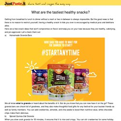 What are the tastiest healthy snacks?