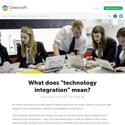 """What does """"technology integration"""" mean?"""
