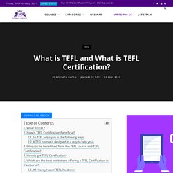 What is TEFL And How to Get TEFL Certification in 2021