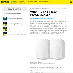 What is the Tesla Powerwall? - dummies