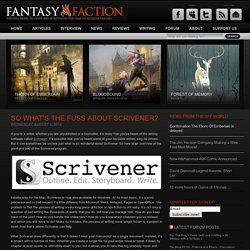 So What's The Fuss About Scrivener?