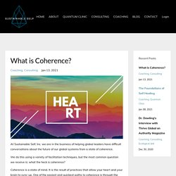 What the heck is Coherence anyway?