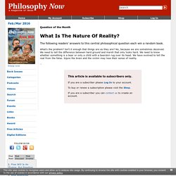 What Is The Nature Of Reality?