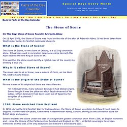 On this Day in History - Stone of Scone Found