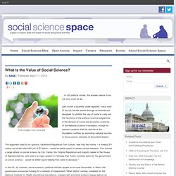 What Is the Value of Social Science?
