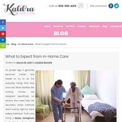 What to Expect from In-Home Care