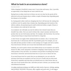 What to look in an ecommerce store?