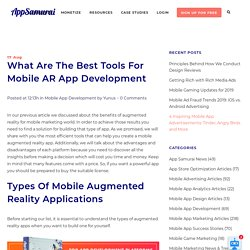 What Are The Best Tools For Mobile AR App Development