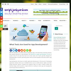 What Tools Are Used for App Development?