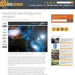 What's the Total Energy In the Universe?