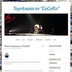 """What is Toyotsuna no """"CoCoRo"""""""