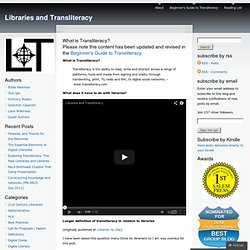 What is Transliteracy?