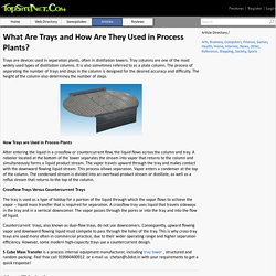 What Are Trays and How Are They Used in Process Plants?