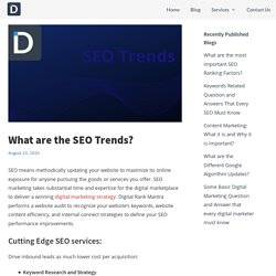 What are the SEO Trends?