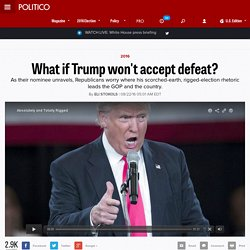 What if Trump won't accept defeat?
