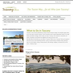 What to Do in Tuscany, Italy: Activities to do in Tuscany