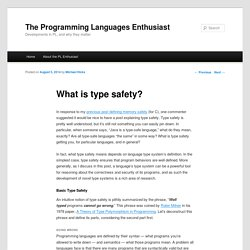 What is type safety? - The PL Enthusiast