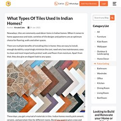 Best Tiles for Indian Homes