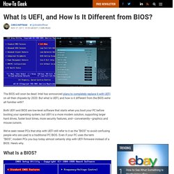 What Is UEFI, and How Is It Different from BIOS?