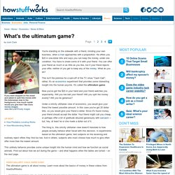 What's the ultimatum game?