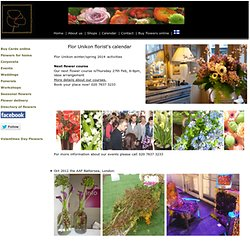 What's on at Flor Unikon, florist London EC1