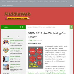 What's Up with STEM for 2015?