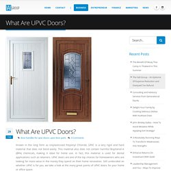 What are UPVC doors?