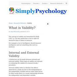 What is Validity in Psychology