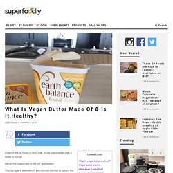 What Is Vegan Butter Made Of & Is It Healthy?