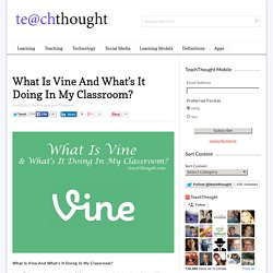 What Is Vine And What's It Doing In My Classroom?
