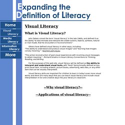 WHAT: is visual literacy?