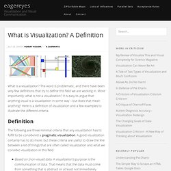 What is Visualization? A Definition
