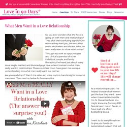 What Men Want in a Love Relationship - Love in 90 Days