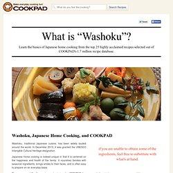 """What is """"Washoku""""?"""