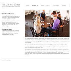 What we do - The Liminal Space