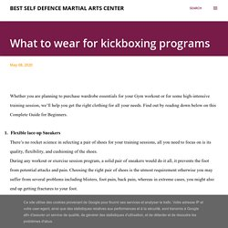What to wear for kickboxing programs