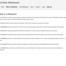 What is a WebQuest?