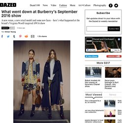 What went down at Burberry's September 2016 show