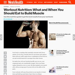 What and When You Should Eat to Build Muscle
