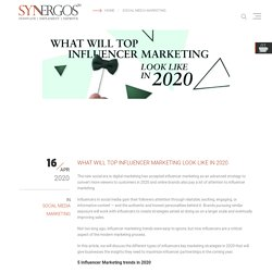 WHAT WILL TOP INFLUENCER MARKETING LOOK LIKE IN 2020