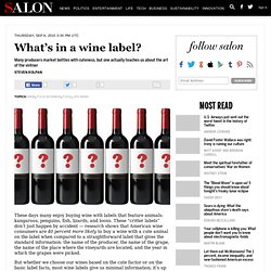 What's in a wine label? - Wine
